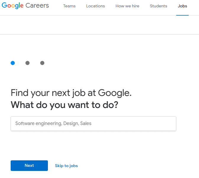 google job search